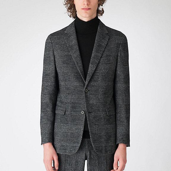 クレストブリッジグレンチェックウールジャージージャケット