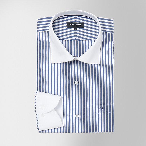 クレリックロンドンストライプセミワイドカラーシャツ