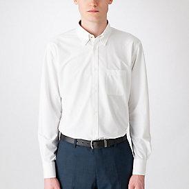 【イージーケア】ジャージーソリッドボタンダウンシャツ
