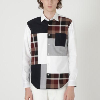 クレストブリッジチェックパッチワークシャツ