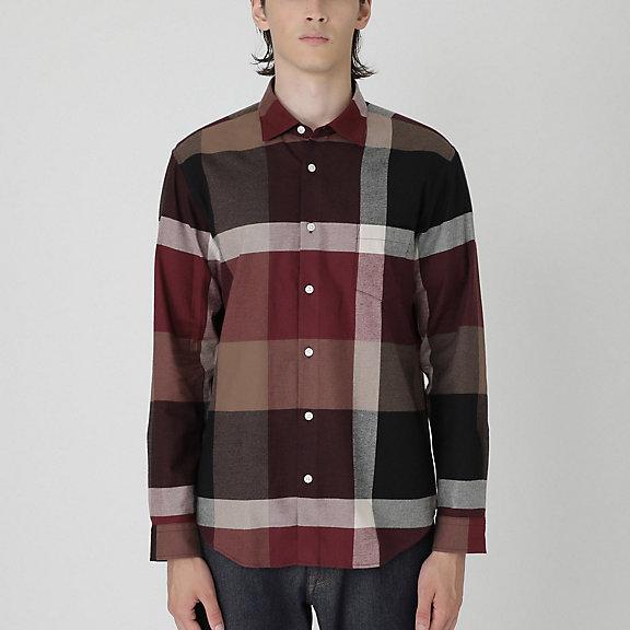 フランネルビッグスケールクレストブリッジチェックシャツ