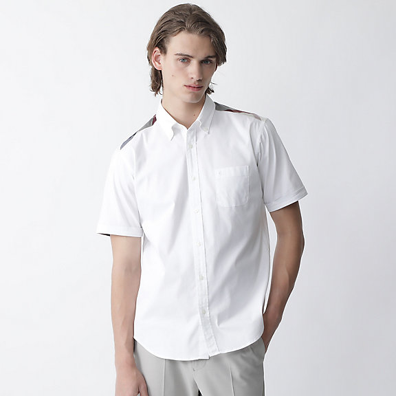 ヨークチェックソロテックスOXBDシャツ