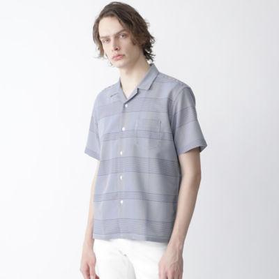 カラミクレストブリッジギンガムチェックオープンカラーシャツ