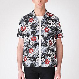 アロハプリントオープンカラーシャツ