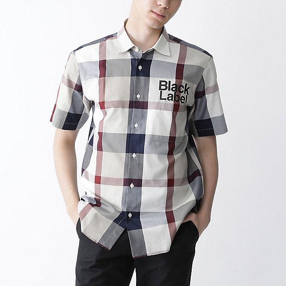 ベージュクレストブリッジチェックロゴプリントシャツ