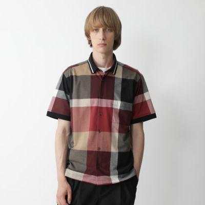 ビッグスケールクレストブリッジチェックニットカラーシャツ