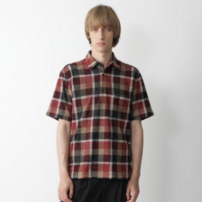 パイルクレストブリッジチェックプルオーバーシャツ
