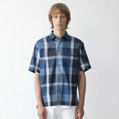 ロゴエンブロイダリークレストブリッジチェックシャツ