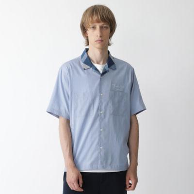 パーシャルクレストブリッジチェックオープンカラーシャツ