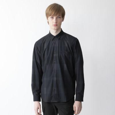 【BLACK lab.】クレストブリッジチェックプリントシャツ