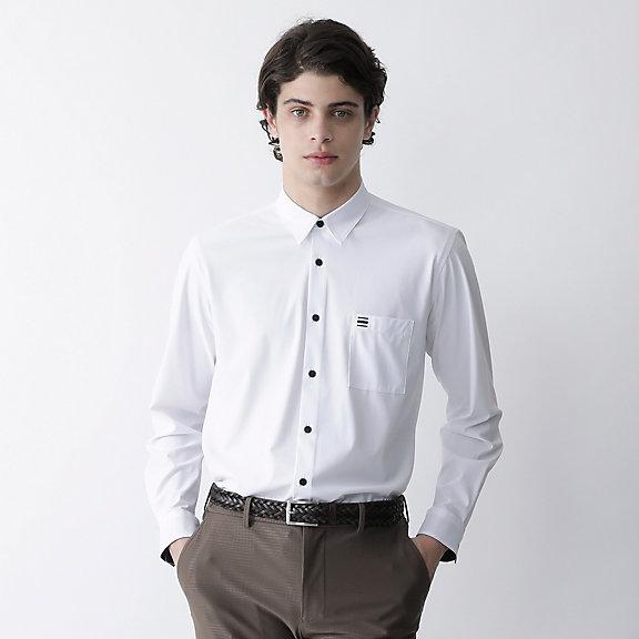 ソリッドプリントシャツ