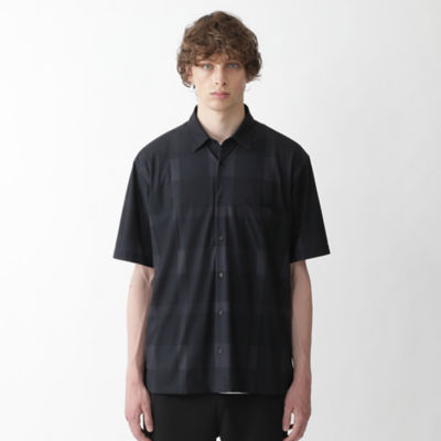 【BLACK lab.】クレストブリッジチェックプリントハーフスリーブシャツ