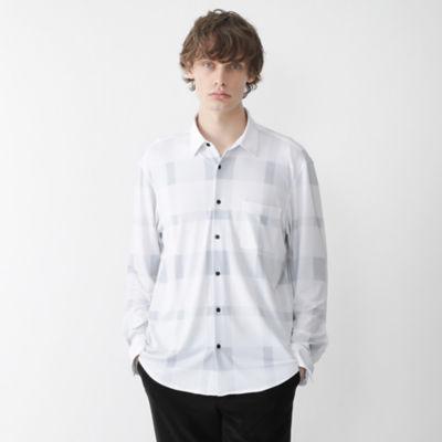 【BLACK lab.】バックフリーストリコットクレストブリッジチェックシャツ
