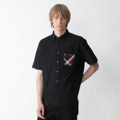 【店舗限定】パーシャルクレストブリッジチェックオックスハーフスリーブシャツ