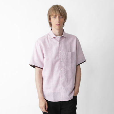 【店舗限定】リネンインサイドクレストブリッジチェックハーフスリーブシャツ