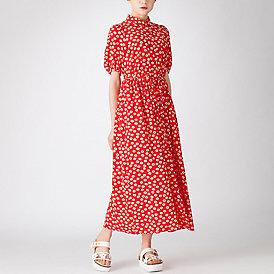 マーガレットフラワープリントシャツドレス