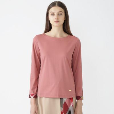 コットンポリエステルシルケットロングTシャツ