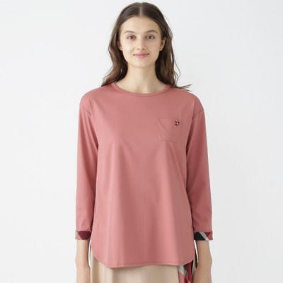 コットンポリエステルシルケットチュニックTシャツ