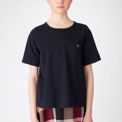 プレーティングシルケット天竺ハートTシャツ