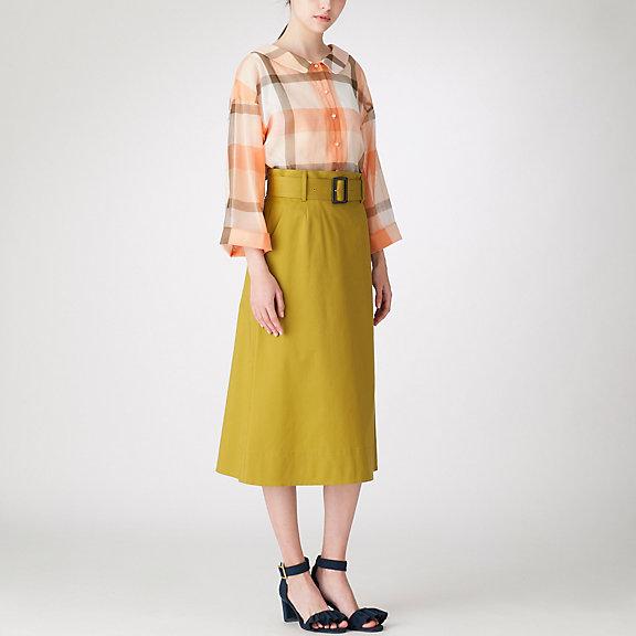 ソフトギャバストレッチAラインスカート
