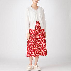 マーガレットフラワープリントスカート