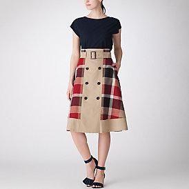 クレストブリッジチェックウェザースカート