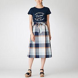 【限定カラーあり】クレストブリッジチェックコージーローンスカート